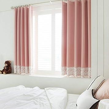 Jffffwi Seda Rosa Cortinas Para Dormitorio Habitación Niños