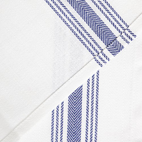 Value Basics Herringbone Stripe Kitchen Towel Set, 15'' x 25'', 14-Pack, Blue & White by Value Basics (Image #3)