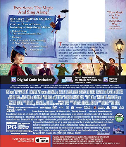 MARY POPPINS RETURNS [Blu-ray]