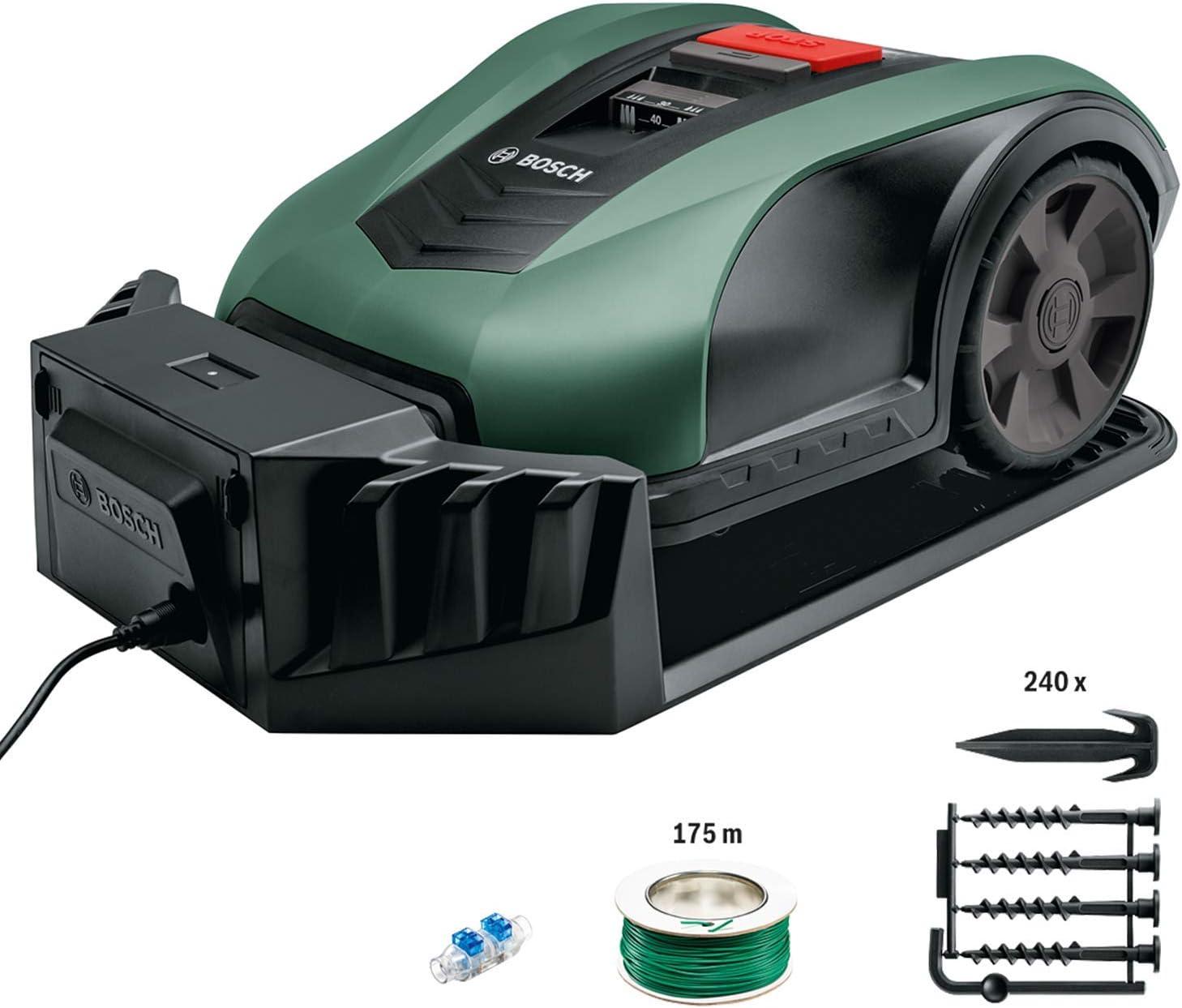 Bosch Lawn and Garden Indego Robot cortacésped ancho de corte 19cm, Verde, 700 m2