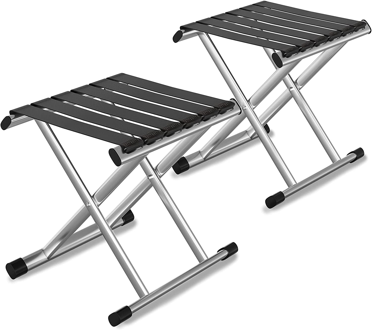 Folding Camping Stool - 2 Packs Outdoor Portable Chairs Lightweight and Compact, Collapsible Stool Seat for Adults Fishing Hiking and Walking