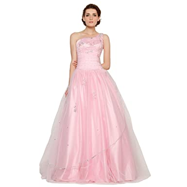 4106b23d429 JSSHAN Women s Strapless Sweetheart Beaded Flowers Organza Princess ...