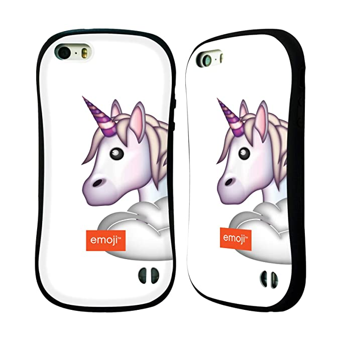 Amazon com: Official Emoji Unicorn Glitter Logos Hybrid Case