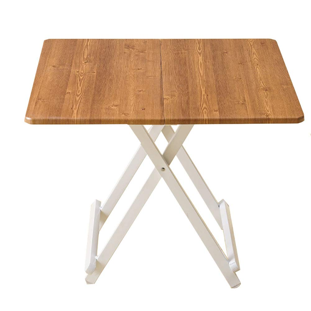 YXX- スモールスクエア折りたたみ式キッチンダイニングテーブル4脚スチールレッグス、ホームリビングルームスナック&コーヒーデスク (サイズ さいず : 68x68x55cm) B07KZBZ7TT  68x68x55cm