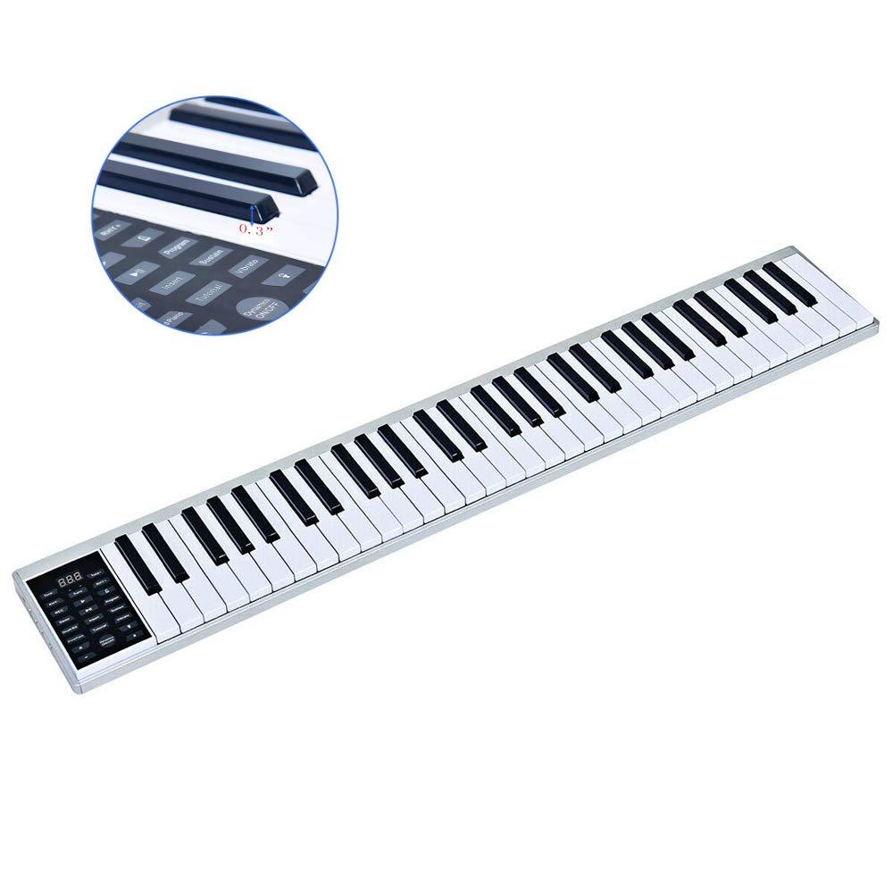 61-key portable electronic piano, MIDI Bluetooth, real piano feel, control panel, portable electronic keyboard by JXGOOD