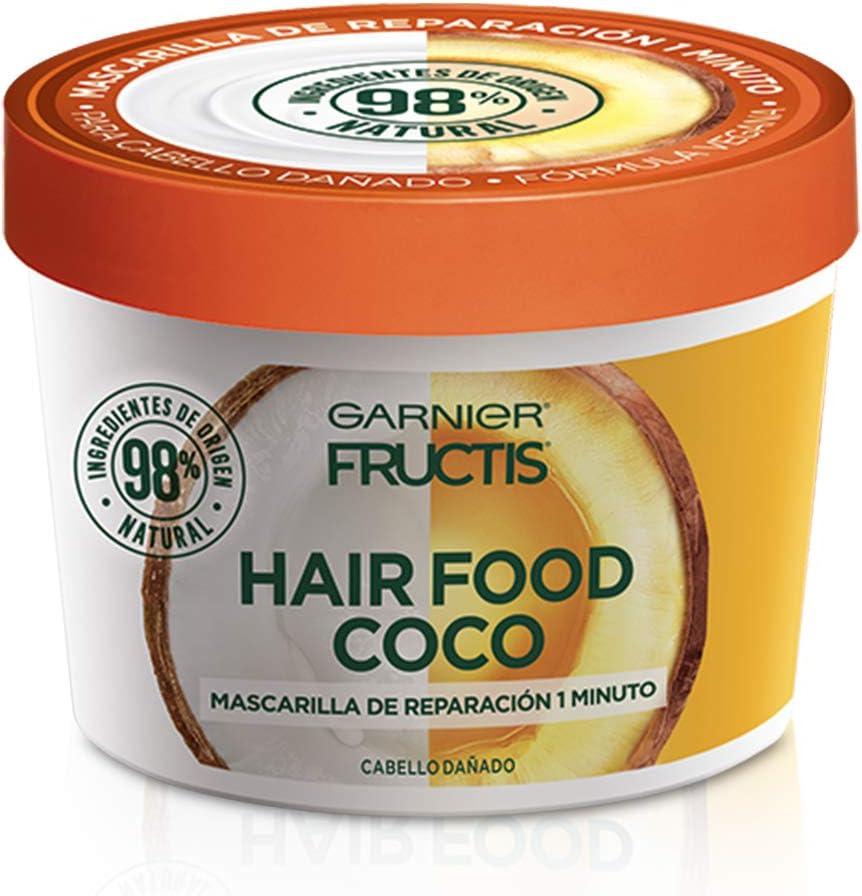 recinto nuez observación  Garnier Fructis Mascarilla para cabello natural y vegana coco, 350 ml:  Amazon.com.mx