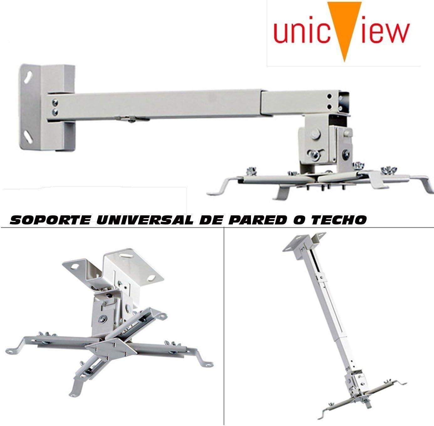 Soporte de Techo para proyector, Color Blanco: Amazon.es: Electrónica