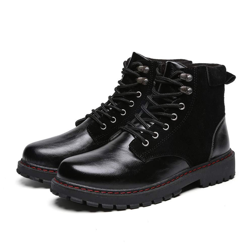 Easy Go Shopping Herren Stiefeletten High Top Sohle Martin und Armee Arbeitsschuhe,Grille Schuhe