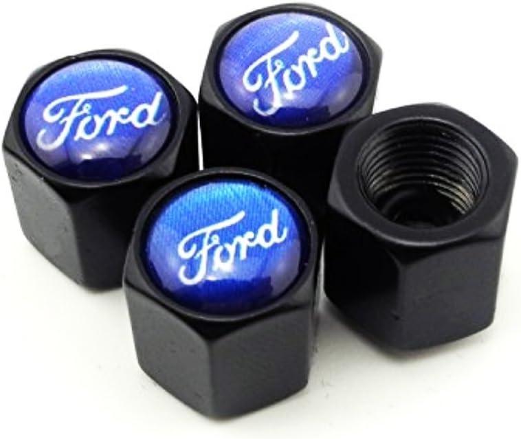 Set 4 coperchi della valvola dell/'aria degli pneumatici con relativa chiave a portachiavi,