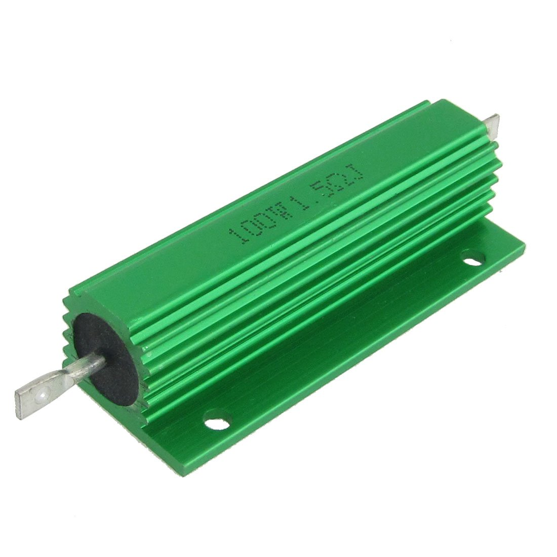 2 Pcs Chasis Mounted Green Aluminum Clad Wirewound Resistors 100W 1.5 Ohm 5% Sourcingmap a12042100ux0247