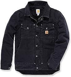 a4e99ea726a Berwick Jacket Carhartt Black Sandstone Größe L Jacke Winterjacke Schwarz  101230 Herren
