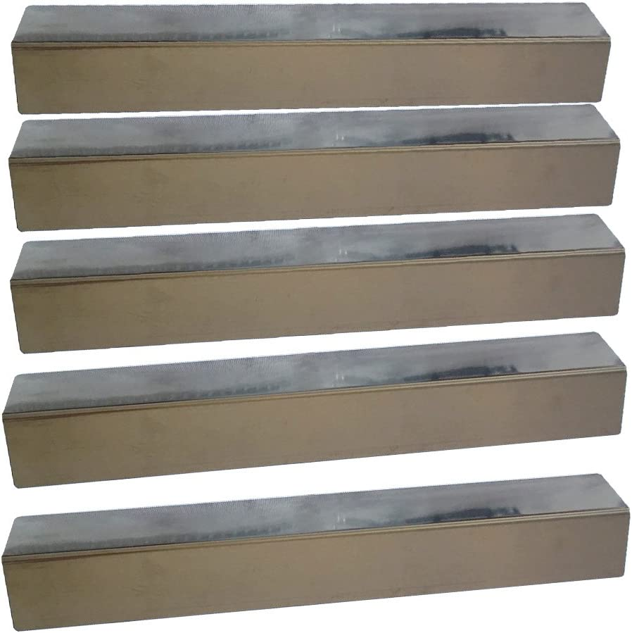 "Stainless Steel Heat Plates (5 Pack) for Brinkmann 810-1750-S, 810-3820-S, 810-3821-S and Other Grill Models (Dims: 16 13/16 X 3 3/16"")"