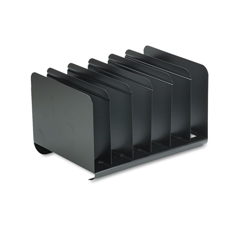 MMF STEELMASTER 6 Section Adjustable Book Rack, Steel, 15 x 11 x 8 7/8, Black, EA - MMF26413BRBLA
