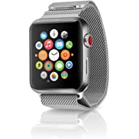 Apple Watch Series 3 38mm Smartwatch (GPS + Cellular, Stainless Steel Case, Stainless Steel Milanese Loop)