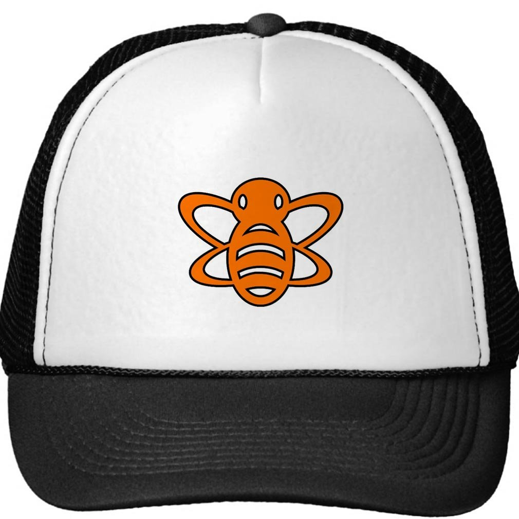 02015ab00 Bumblebee Or Bumble Bee Honey Queen Wasp Orange Trucker Hat at ...