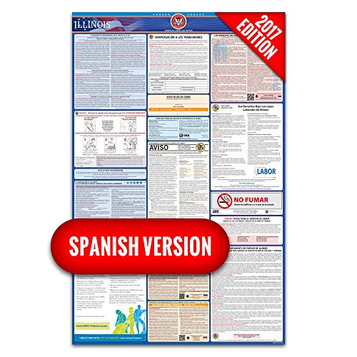 2016 Illinois (Spanish) Labor Law Poster – State & Federal Compliant – Laminated