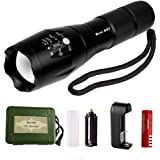 Best 007 Super Bright LED Flashlight,Tactical Flashlight High Lumen Zoomable Rechargeable Flashlight (flashlight set)