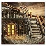 : Pirate Ship Background - TOOGOO(R) 5x7FT Vinyl Studio Photography Backdrop Retro Pirate Ship Photo Background