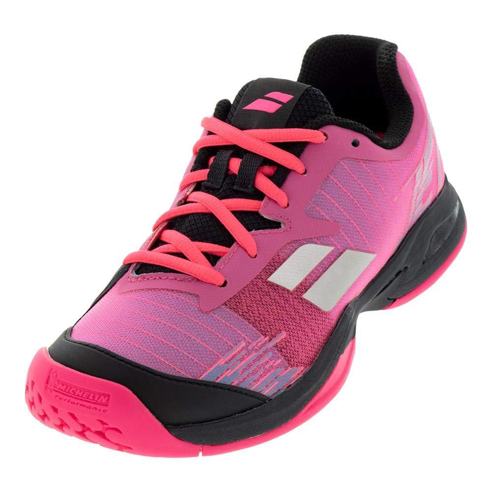 Babolat Bambini Jet Allcourt Junior Scarpe da Tennis Scarpa per Tutte Le Superfici Rosa Nero 35