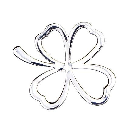 Strickjacke An Brust Blume Zubeh/ör Weiblich KUNQ S/ü/ße Brosche//Kleeblatt Einfache Brosche Halsband Hemd Kragen Leichte Beweis