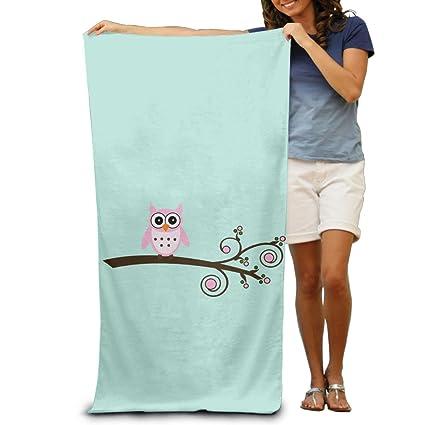 Cartoon Cute Rosa Búho hombres toallas Bueno de toallas de ducha de toallas de playa toallas