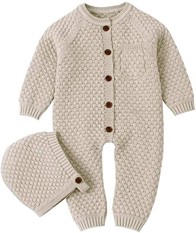 US Newborn Infant Baby Boy Girl Fluffy Winter Top Pants Warm Outfit Clothes LET