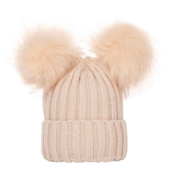 Cebbay Gorra de Bebe Cálido Gorro de Punto Liquidación Sombrero Caliente de niña  bebé Sombrero de 2581b49457a