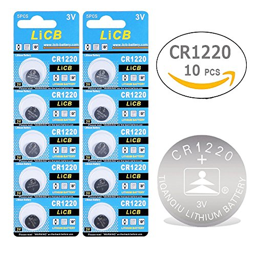 LiCB 10 Pack CR1220 3V Lithium Battery CR 1220