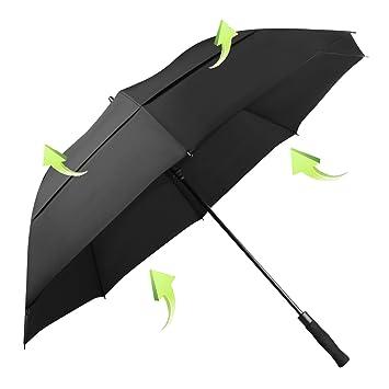 Koler Golf Umbrella Windproof 62 Inch Oversized Double Vented Canopy Auto Open Waterproof u0026 Sunproof Extra  sc 1 st  Amazon.com & Amazon.com: Koler Golf Umbrella Windproof 62 Inch Oversized Double ...