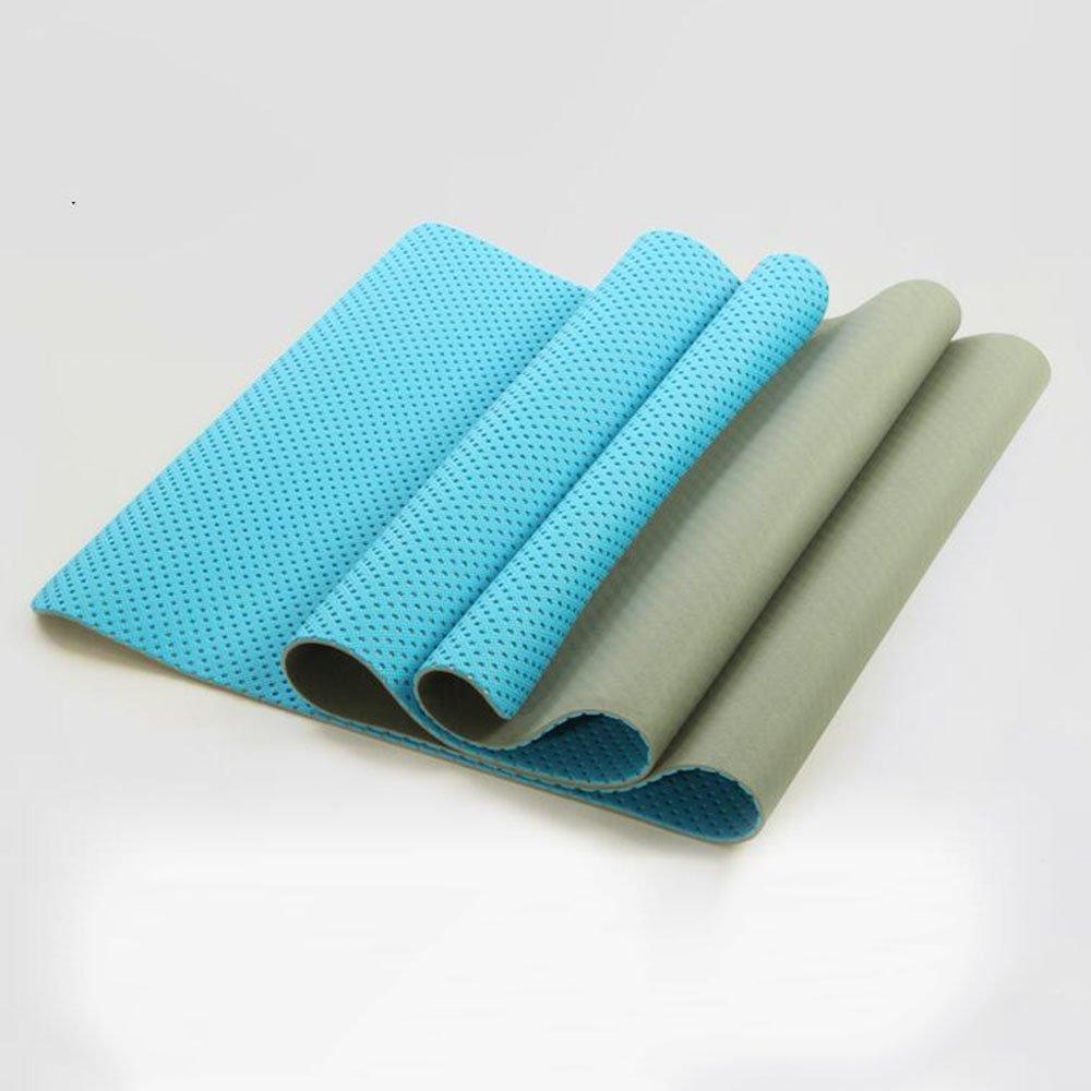 Anti-Rutsch-Yoga-Matte --- TPE Anti-Rutsch-Pad-Abnutzungs-Yoga-Matte Gymnastikmatte Gymnastikmatte, drei Farben verfügbar --- Naturkautschuk Yoga-Matte, für Training / Pila