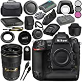 Nikon D5 DSLR Camera (Dual CF Slots) #1558 AF-S NIKKOR 24-70mm ED Lens + 77mm 3 Piece Filter Kit + Mini HDMI Cable + Carrying Case + Multi Purpose USB card Reader + Hand Strap Bundle
