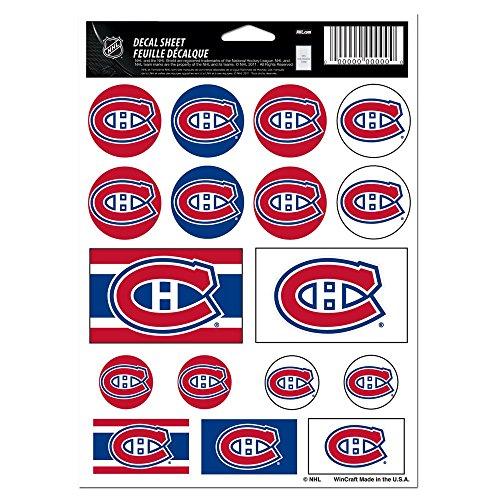 """WinCraft NHL Montreal Canadiens Vinyl Sticker Sheet, 5"""" x 7"""""""