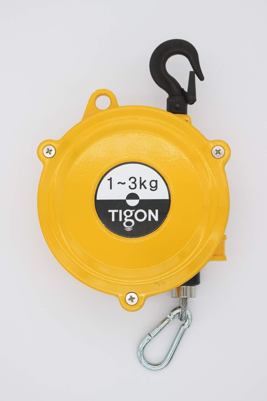 Tigon TW-3 Spring Balancer 1-3 kg//2.2-6.6 lbs Tool Balancer with Steel Cable,