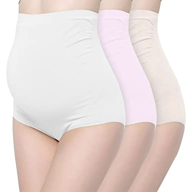 69657a49681e5 Image Unavailable. Image not available for. Color  Surewin Women s Seamless  Over Bump Maternity Underwear ...