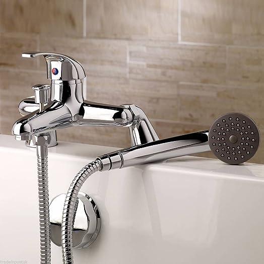 Bath Shower Mixer Tap Filler Bathroom Chrome Sink Basin Set Hand Held