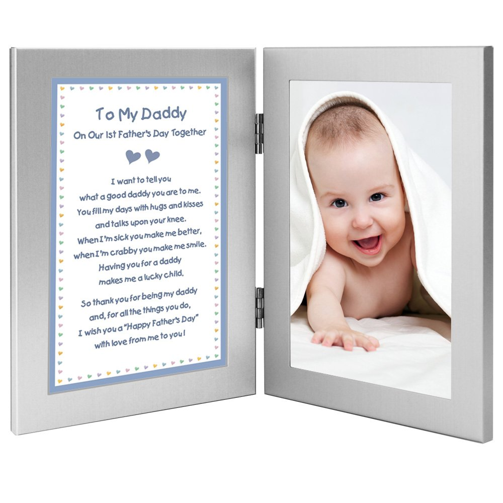 First Fathers Day Poem from Baby Son to Daddy Gift, Add Photo