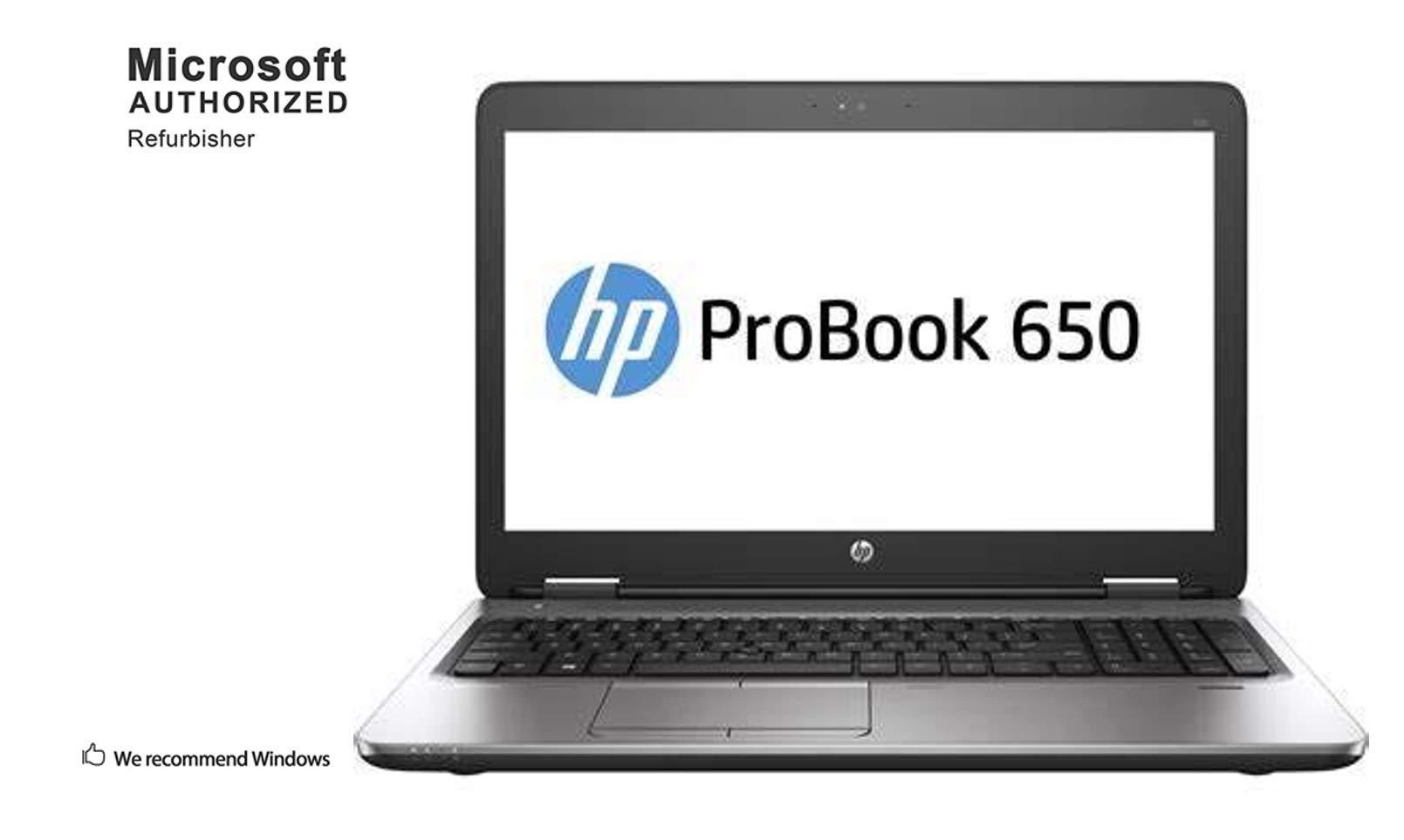 HP ProBook 650 G2 15.6 Inch Business Laptop PC, Intel Core i5 6300U up to 3.0GHz, 16 GB DDR4, 512 GB SSD, WiFi, DVD, VGA, DP, Win 10 Pro 64 Bit-Multi-Language Supports English/Spanish/French(Renewed)...