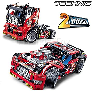 Decool Technic 1 2 Model 3360 608pcs Race Truck Car Transformable Building Blocks Bricks Gifts Toys Fit For Lego 42041 Lepin