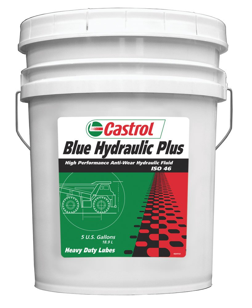 Castrol 40247 Blue 'Hydraulic Plus 46' Hydraulic Fluid - 5 Gallon