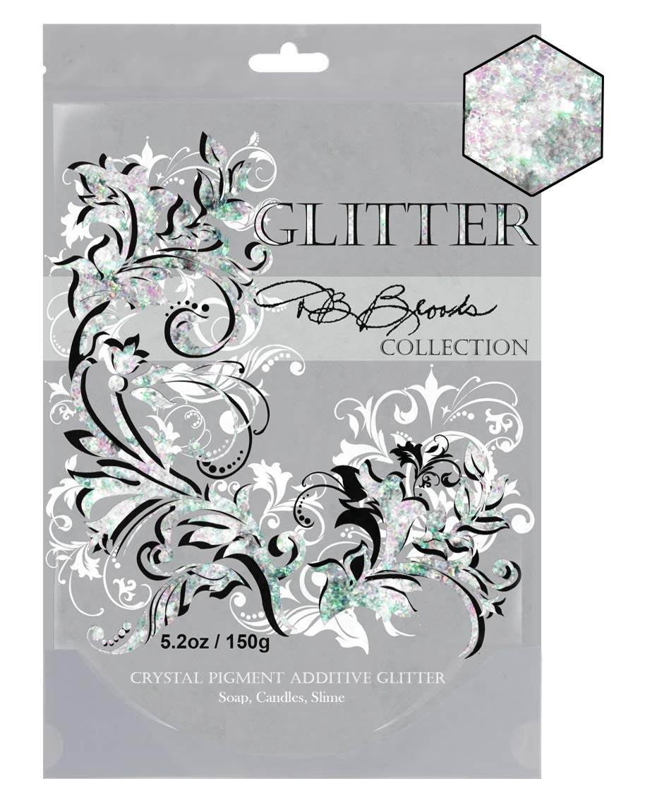 Clear Iridescent DB Brooks Collection Hybrid Pet Crystal Glitter Sparkles 150g//5.2oz fine blended glitter sparkles Non-Toxic Child /& Pet Safe Easy to use.