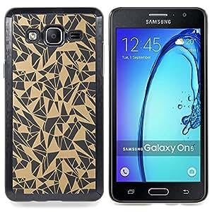 Stuss Case / Funda Carcasa protectora - Patrón del arte abstracto Beige Gris - Samsung Galaxy On5 O5