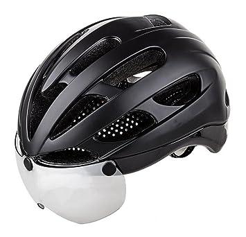 Casco De Bicicleta De Carretera De Montaña Casco De Equitación Integrado Con Gafas De Protección Equipo