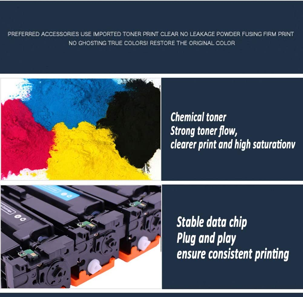 FPME Compatible Toner Cartridge for HP CB540A Work for HP125A CP1215 1515n CP1518ni CM1312nfi,Very economical 2200-1400Pages-fullset