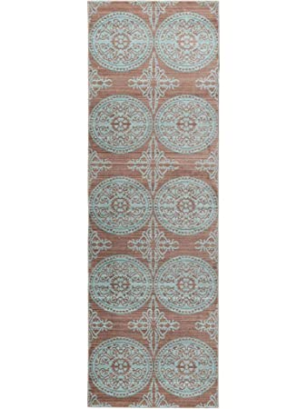 Benuta Teppich Läufer Visconti Braun/Türkis 70x240 Cm | Moderner Teppich  Für Wohn  Und