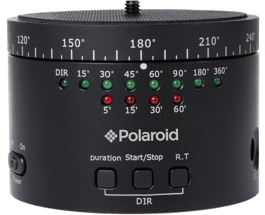 ポラロイド デジタルSLRカメラ, スマートフォン, GoPro用 電動式パノラマパンヘッド/自動雲台 充電式バッテリー (1200mAh) 内臓 マウントアダプター付属   B014T2YYRY