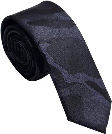 Mens Paisley Slim Tie 2 Inch Black Occassion Party Wedding Formal Smart Tie