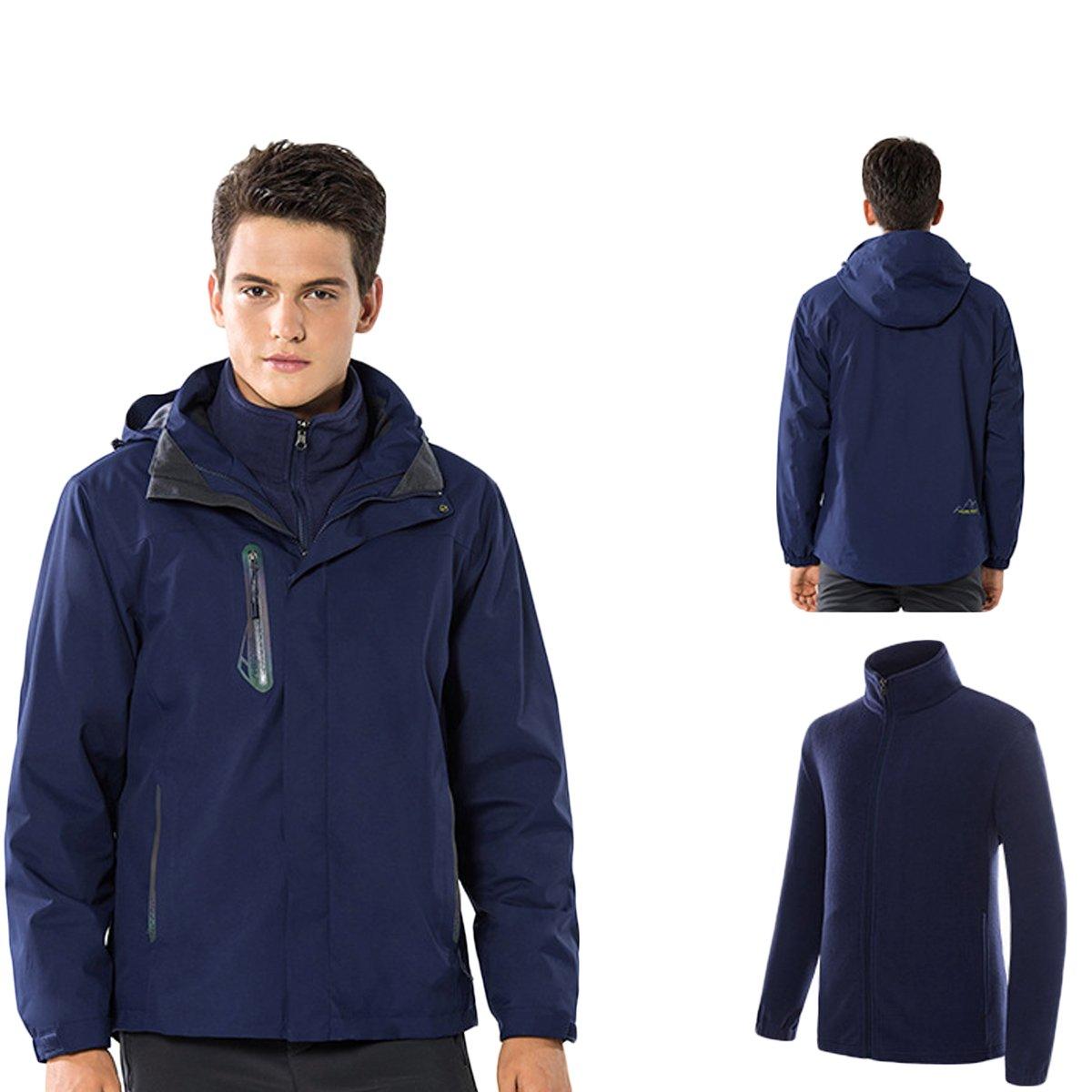 c839f3183 Amazon.com  Dnstar Winter Jacket Men s 3 in 1 Waterproof Snow Fleece ...