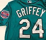 Seattle Mariners Ken Griffey Jr. Autographed Teal Majestic Jersey HOF Patch Beckett BAS & Tristar Holo