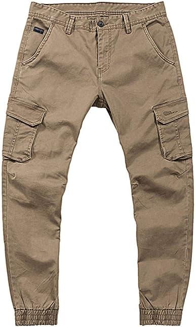 Homme Élastique Pantalon Multi Poche Cargo Combat Travail Pantalon