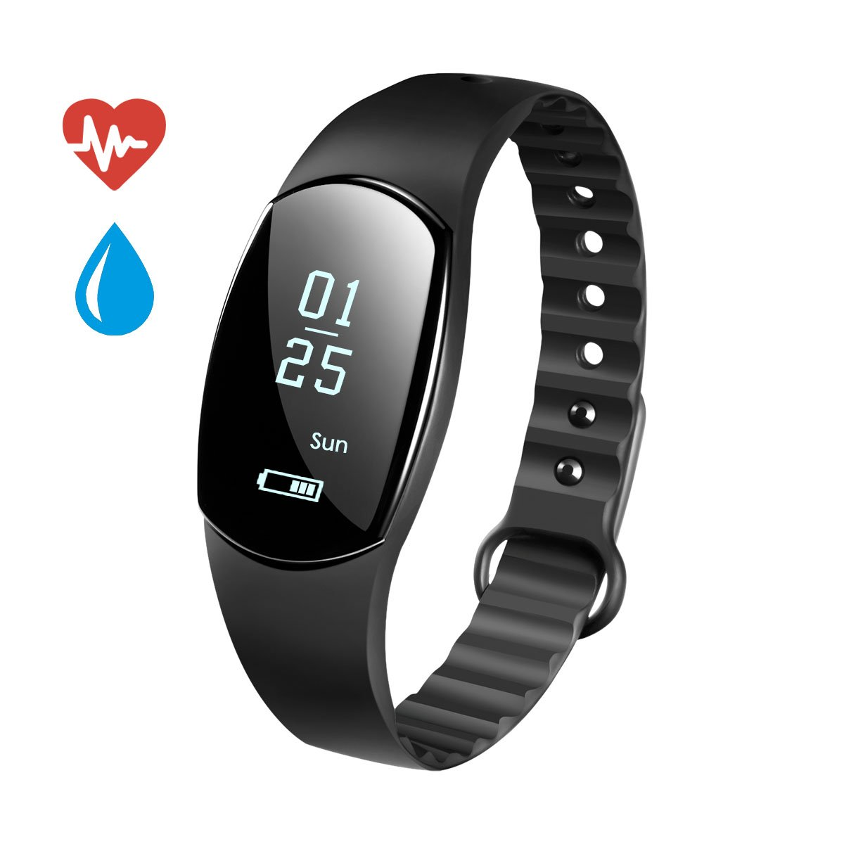 Fitness Tracker robotsdeal Heart Rate Monitor Tracker pulsera inteligente actividad rastreador Bluetooth